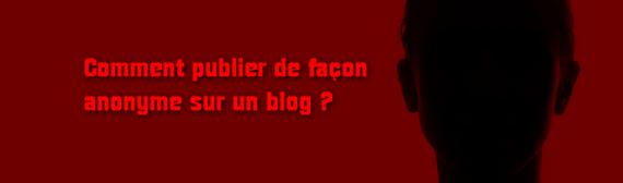 Blog anonyme Web