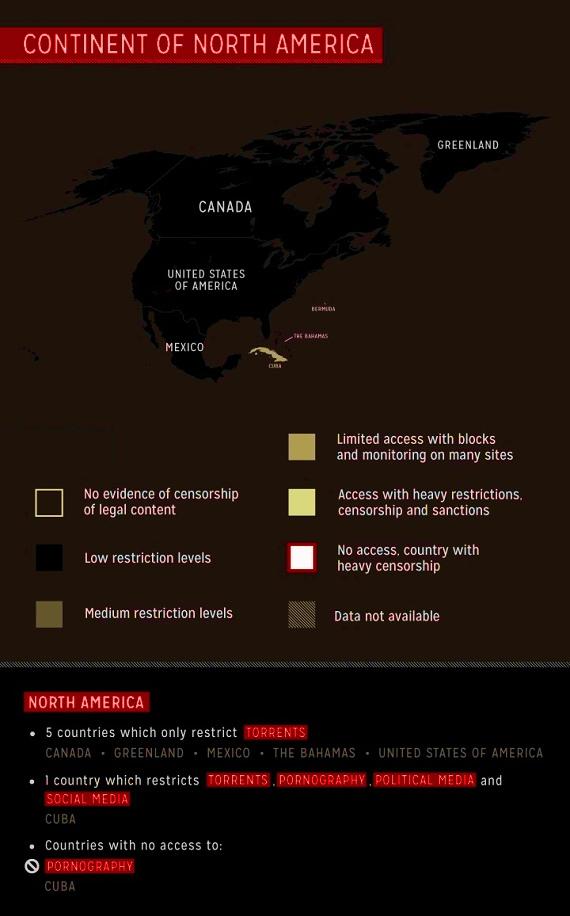 Cyber censure en Amérique du Nord